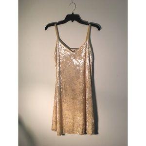 Zara Canary Yellow Crushed Velvet Dress
