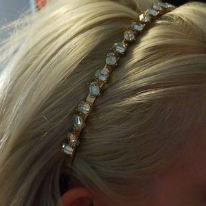 Accessories - Gold Bejeweled Headband ... #pretty