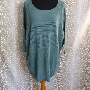 Anthropologie Yoon Sweater Green Size M NWT