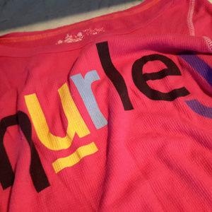 Hurley long sleeve Thermal Tees Tshirt - womens