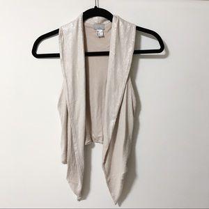 H&M light pink sequins vest