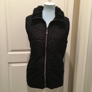 Casual Identity Vest with Faux Fur Collar size L