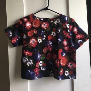 Boxy Floral Short Sleeve