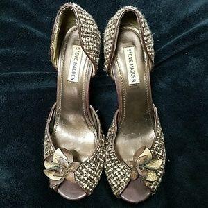 Steve Madden brown Tweed heels