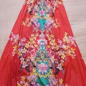 Eyes of Simone Umi Floral Maxi Skirt