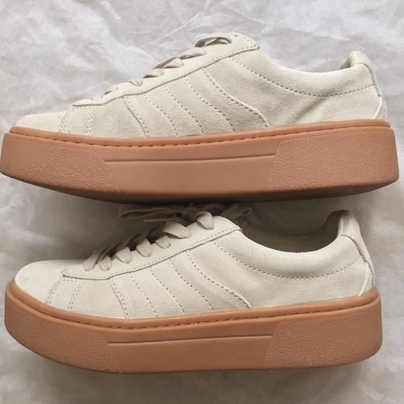 Zara Shoes Chunky Sole Leather Suede Women Sneaker Poshmark