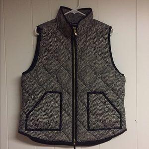J. Crew Factory Herringbone Quilted Vest