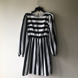 Xhilaration Striped Cocktail Dress