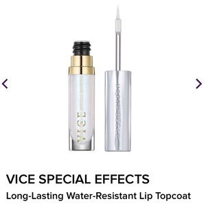 BNIB urban decay vice lip topcoat in white lie