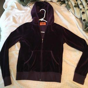 Juicy Couture eggplant velour track jacket S