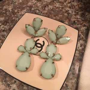 Mint Colored Earrings