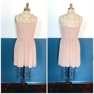 ballet inspired crepe rayon beaded strappy dress