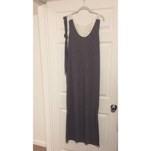 Dresses & Skirts - Gray with Lace Back Maxi Dress