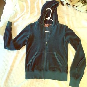 Juicy Couture turquoise velour track jacket S
