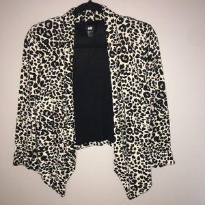 Fashionable Leopard Print Blazer