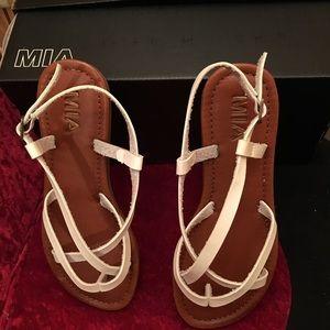 Mia White Sandals