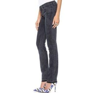 J Brand Mid Rise Rail Blk Noise Indigo Jeans
