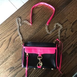 Hot Pink & Black Rebecca Minkoff M.A.C. Crossbody!