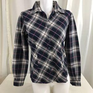 Burberry Button Down Plaid Shirt