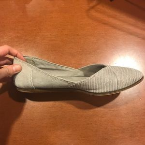 TOMS Jutti Embossed Suede Flat