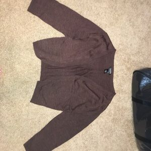 Maurices Brown Cropped Cardigan