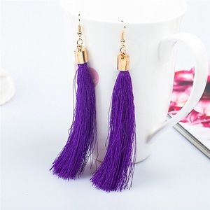 🏈🍂PURPLE TASSEL EARRINGS- NEW🍂🏈