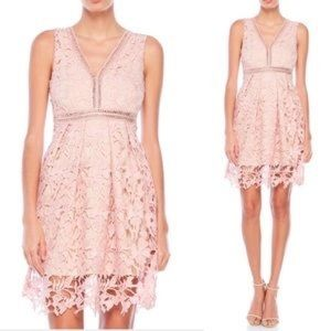 Romeo + Juliet Couture Dusty Rose lace dress sz S