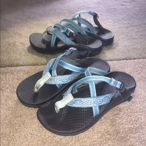 Chaco Sandals w/no heel strap (blue)