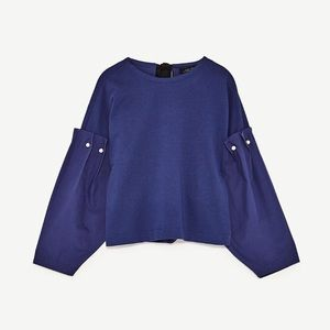 NWT Zara Blouse with Pearl Details