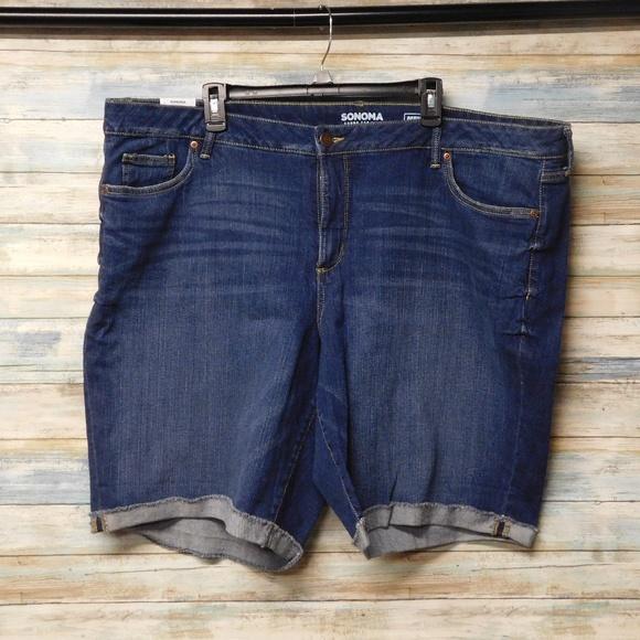 f1837bf7b8b Women s Sonoma Bermuda Shorts Stretch Jeans 24W