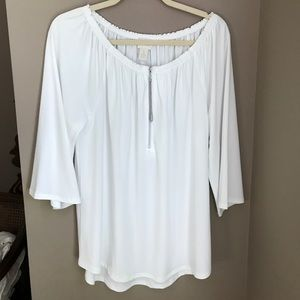 White Chico's off the shoulder blouse
