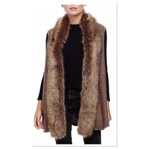 Taupe Faux Fur Vest, NWOT