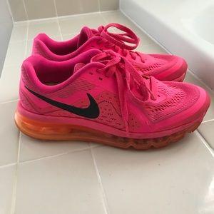 Pink and Orange Women's Nike AirMax