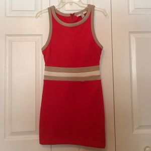 Fitted color block dress