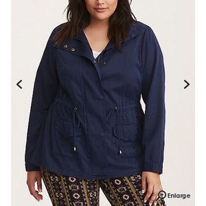 NWT- Torrid Size 4 Blue Utility Jacket