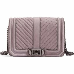 BNWT REBECCA MINKOFF Small Love Nubuck Crossbody