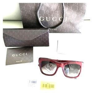 GUCCI SUNGLASSES GG3827/S VLG PEARLED RED NWT RARE