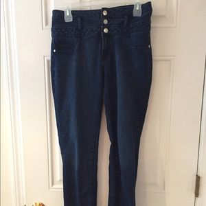 Button jeans skinny