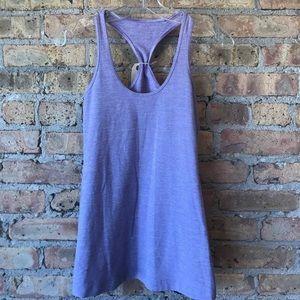 Lululemon purple mini stripe tank sz 6