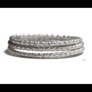 925 glitter ring set