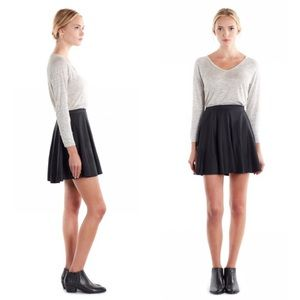 NWT Joie Kyla black leather skirt