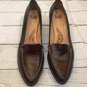 NWOT Sofft dress faux alligator heels. Size 10M.