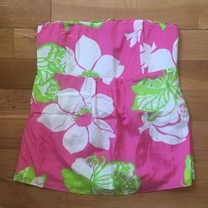 Lilly Pulitzer Printed Strapless Top