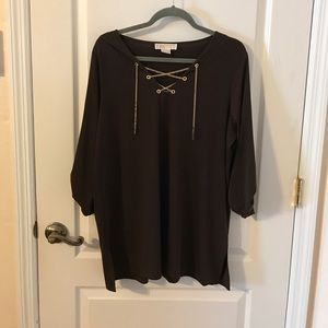 Michael Kors Size OX Brown Blouse Gently Used