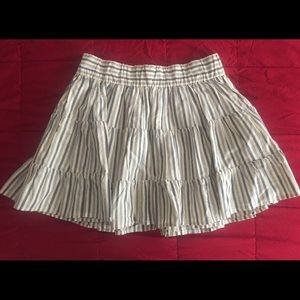 J. Crew Striped Mini Skirt