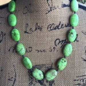 CHUNKY 'TURQUOISE' GREEN STATEMENT NECKLACE