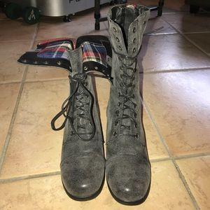 Madden Girl grey Galeriaa combat boots