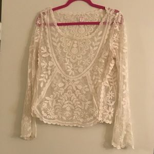 Beautiful sheer lace top