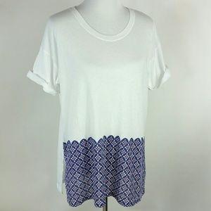 J. Crew Geometric print tee shirt size XL
