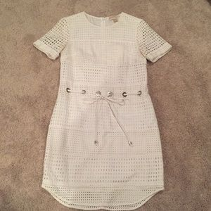 Michael Kors white eyelit dress